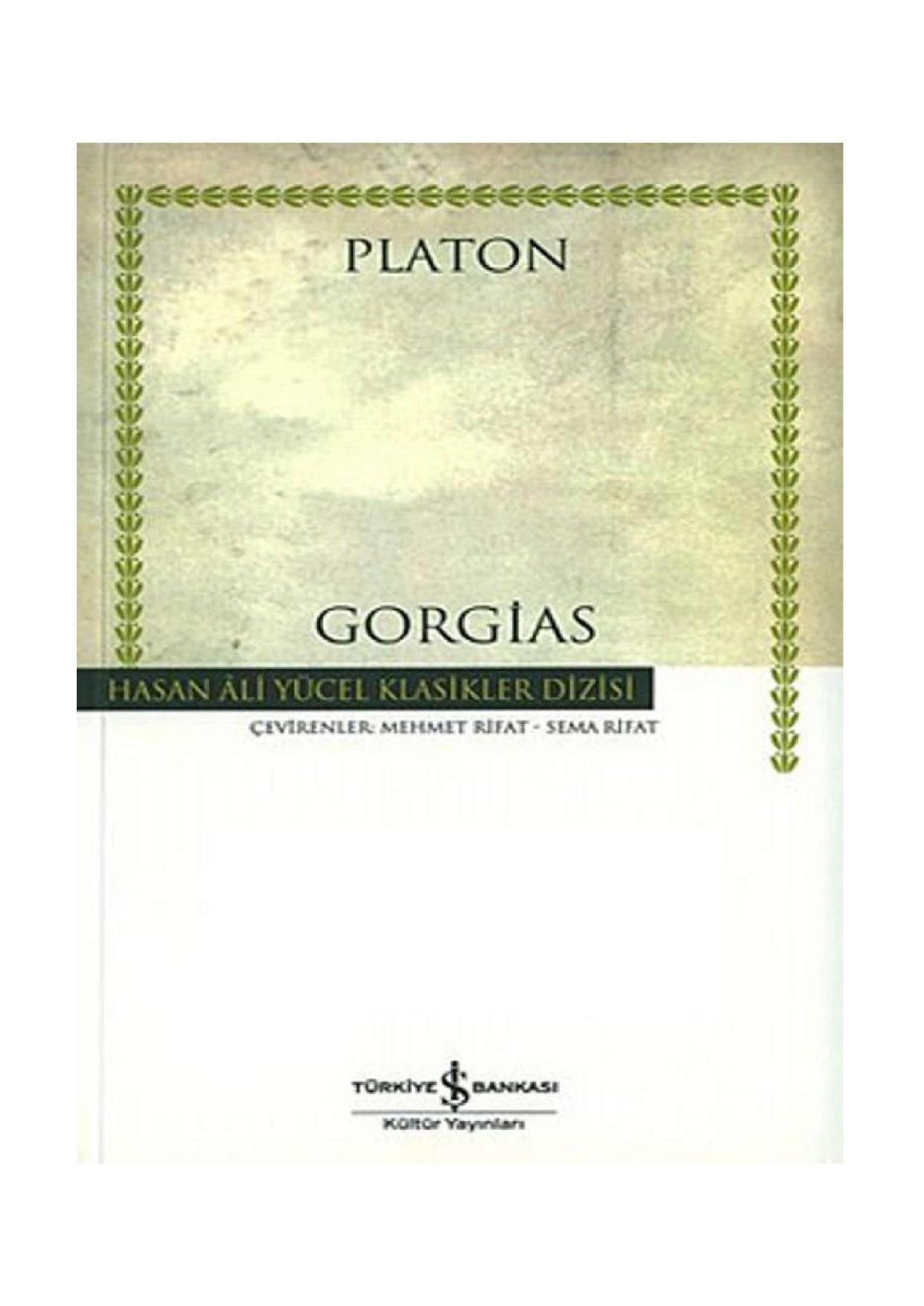 Gorgias Kitap Kapağı