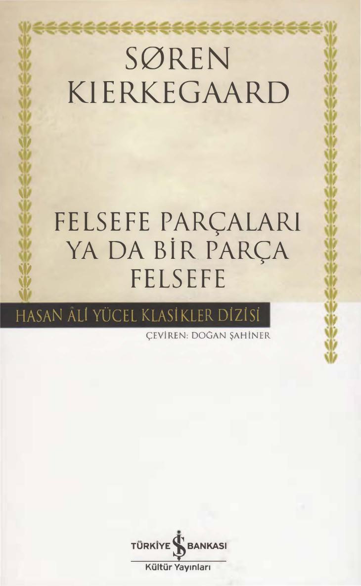 Felsefe Parçaları ya da Bir Parça Felsefe Kitap Kapağı