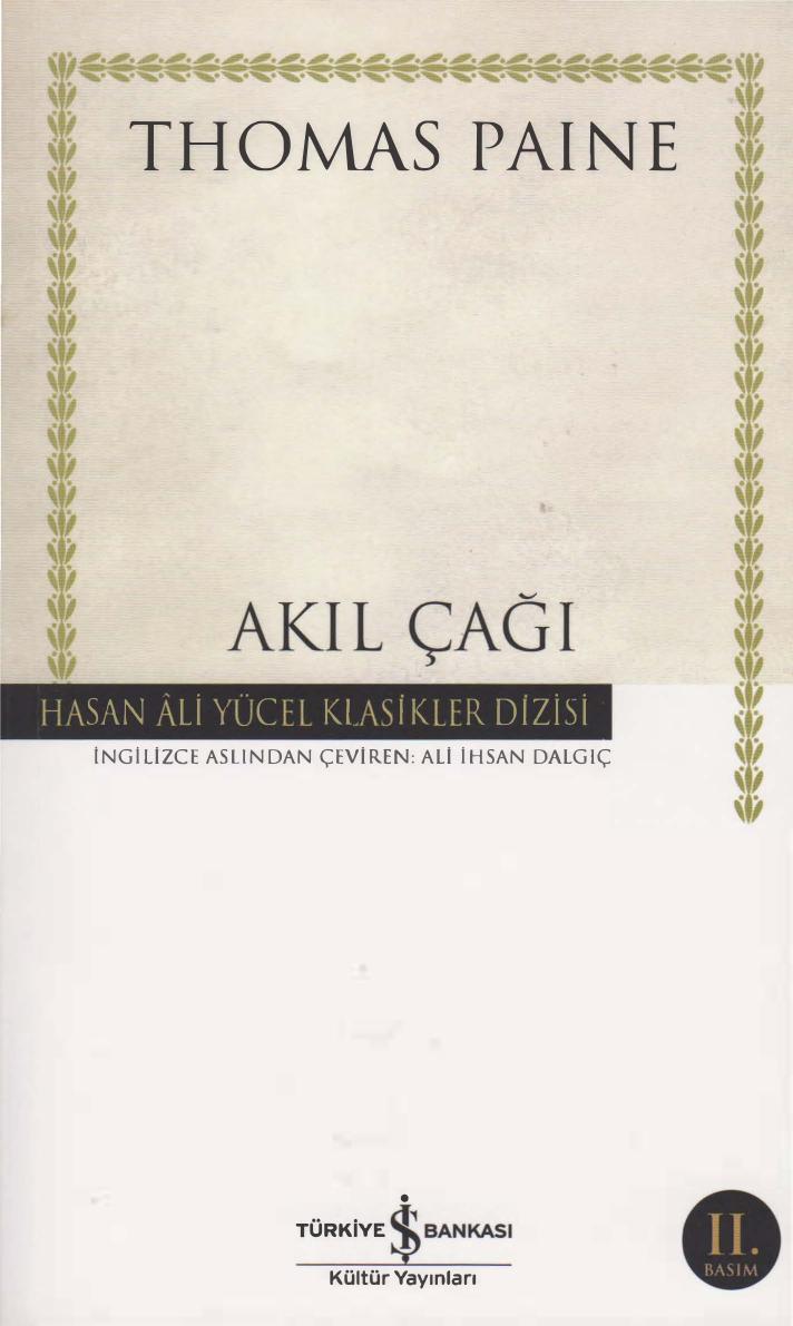 Akıl Çağı Kitap Kapağı