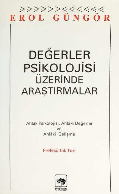 Değerler Psikolojisi Üzerine Araştırmalar Kitap Kapağı