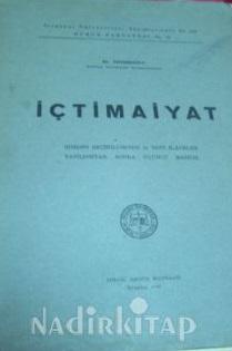 İçtimaiyat Kitap Kapağı