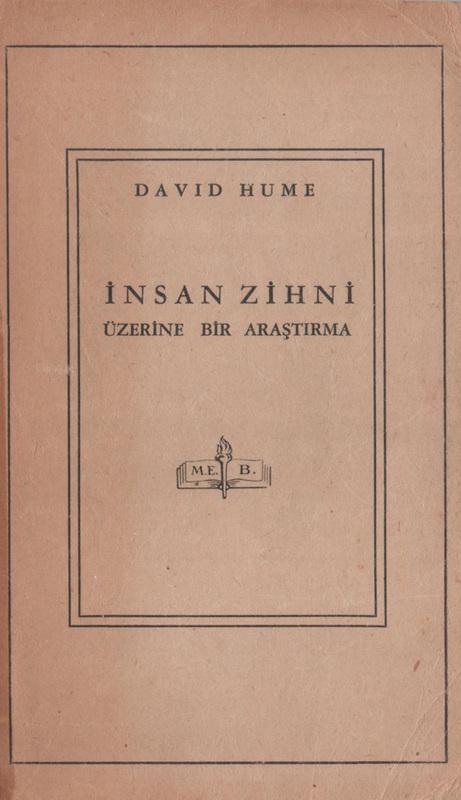 İnsan Zihni Üzerine Bir Araştırma Kitap Kapağı