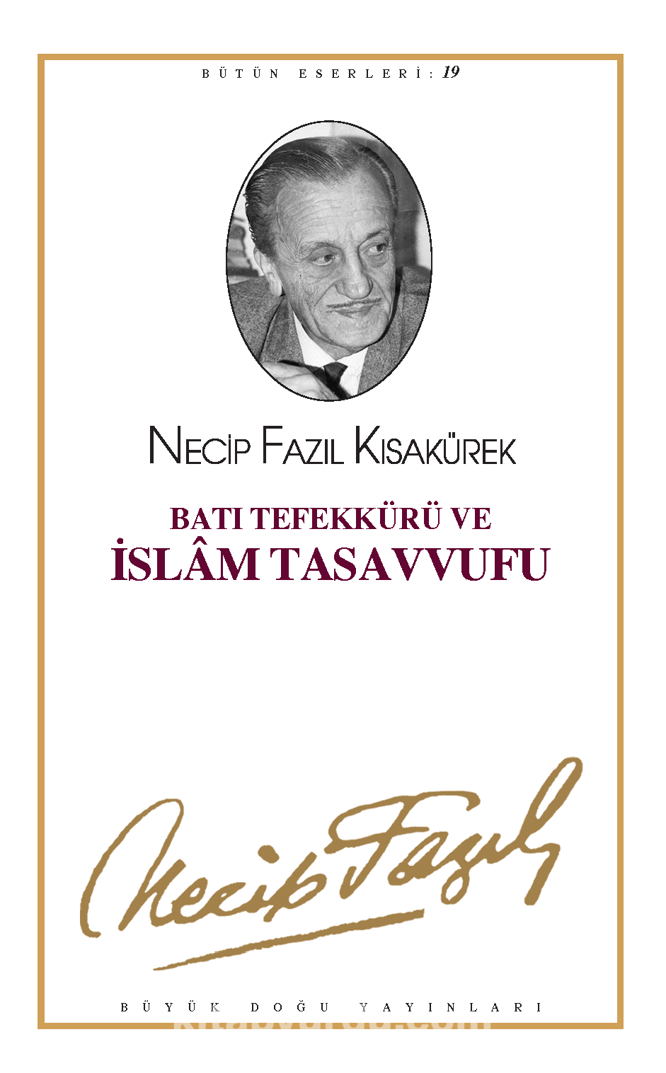 Batı Tefekkürü ve İslam Tasavvufu Kitap Kapağı
