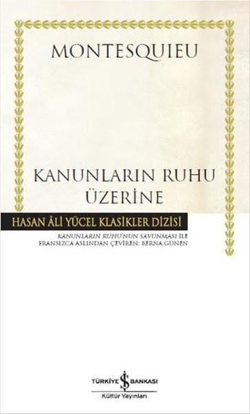 Kanunların Ruhu Üzerine Kitap Kapağı