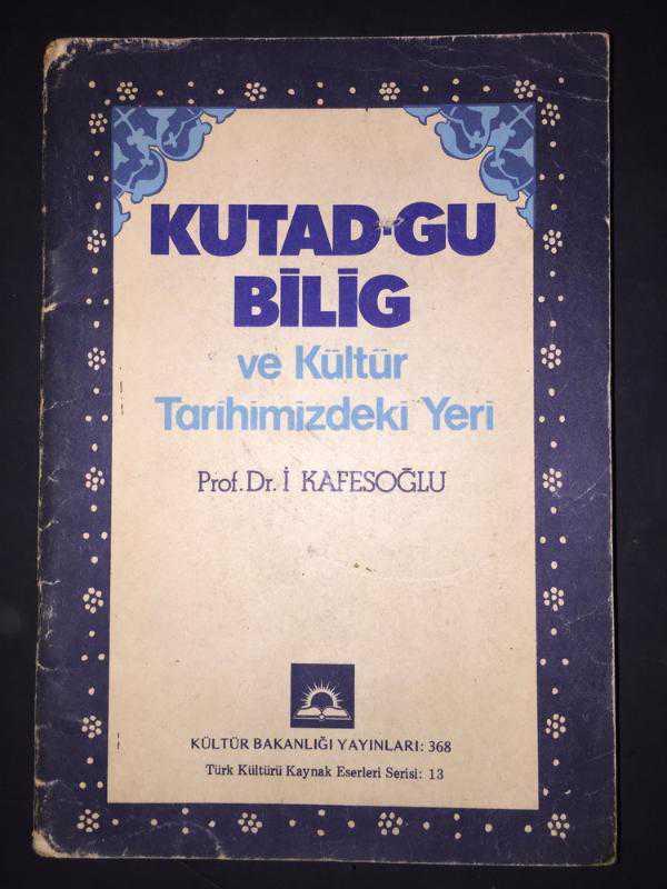 Kutadgu Bilig ve Kültür Tarihimizdeki Yeri Kitap Kapağı