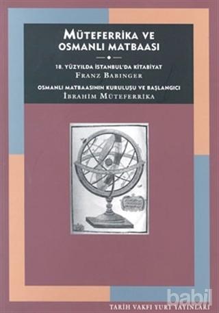 Müteferrika ve Osmanlı Matbaası Kitap Kapağı
