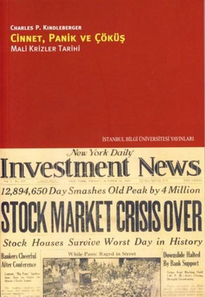 Cinnet, Panik ve Çöküş: Mali Krizler Tarihi Kitap Kapağı