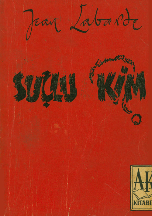 Suçlu Kim Kitap Kapağı